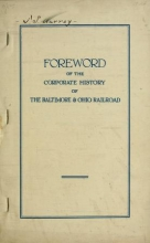 Cover of Baltimore and Ohio railroad corporate histories