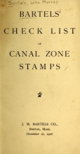 Cover of Bartels' check list of Canal Zone stamps
