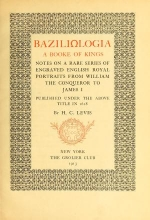 Cover of Baziliologia, a booke of kings