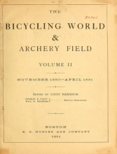 "Cover of ""The bicycling world & archery field"""