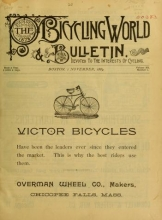 Cover of The Bicycling world and L.A.W. bulletin v. 20 1889-Apr. 1890