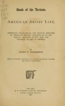 Cover of Book of the artists