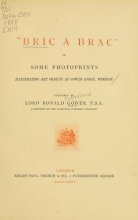 Cover of Bric à brac, or, Some photoprints illustrating art objects at Gower Lodge, Windsor