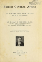 Cover of British Central Africa