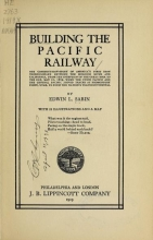 Cover of Building the Pacific railway