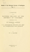 Cover of Bulletin of the Biological Society of Washington