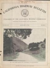 Cover of California highway bulletin
