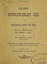 Cover of Calvary wiwigawangapi kin qa wokiksuye anpetu kin koya