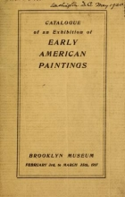Cover of Catalog of an exhibition of Early American paintings