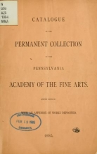 Cover of Catalogue of the permanent collection of the Pennsylvania Academy of the Fine Arts