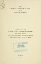 Cover of Catalog of the Pilgrim Tercentenary exhibition