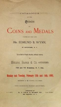Cover of Catalogue of the collection of coins and medals formed by the late Mr. Edmund B. Wynn., of Watertown, N.Y