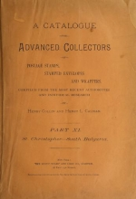 Cover of A catalogue for advanced collectors of postage stamps, stamped envelopes and wrappers pt. 11