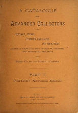 Cover of A catalogue for advanced collectors of postage stamps, stamped envelopes and wrappers pt. 5