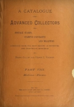 Cover of A catalogue for advanced collectors of postage stamps, stamped envelopes and wrappers pt. 8