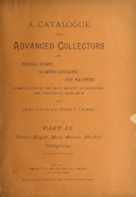Cover of A catalogue for advanced collectors of postage stamps, stamped envelopes and wrappers pt. 9