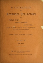 Cover of A catalogue for advanced collectors of postage stamps, stamped envelopes and wrappers pt. 10