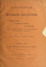 Cover of A catalogue for advanced collectors of postage stamps, stamped envelopes and wrappers pt. 13