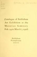 Cover of Catalogue of Bethlehem art exhibition at the Moravian seminary