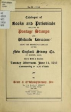 Cover of Catalogue of books and periodicals relating to postage stamps and philatelic literature