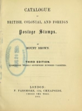 Cover of Catalogue of British, colonial, and foreign postage stamps