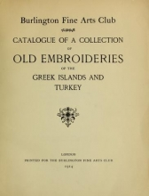 Cover of Catalogue of a collection of old embroideries of the Greek islands and Turkey