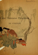 Cover of Catalogue of Fukuba's collection of one hundred Ukiyoé paintings