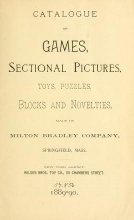 Cover of Catalogue of games, sectional pictures, toys, puzzles, blocks and novelties