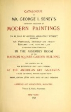 Cover of Catalogue of Mr. George I. Seney's important collection of modern paintings