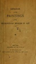 Cover of Catalogue of the paintings