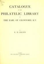 Cover of Catalogue of the philatelic library of the Earl of Crawford, K.T.,