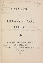 Cover of Catalogue of Tiffany & Co's exhibit
