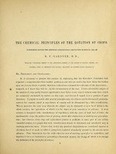 Cover of The chemical principles of the rotation of crops