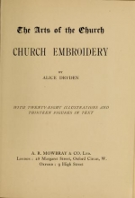 Cover of Church embroidery