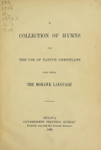 Cover of A collection of hymns for the use of native Christians who speak the Mohawk language