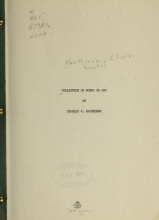 Cover of Collection of notes on art