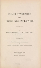 Cover of Color standards and color nomenclature