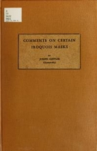 Cover of Comments on certain Iroquois masks