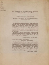 Cover of Committee on Legislation