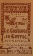 Cover of Le costume en Egypte