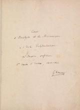 Cover of Cours d'analyse et de mel£anique al l'el£ole polytechnique