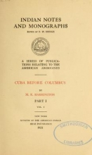 Cover of Cuba before Columbus
