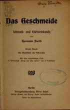 Cover of Das Geschmeide, Schmuck- und Edelsteinkunde