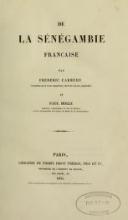 Cover of De la Sénégambie française