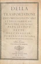 Cover of Della trasportatione dell'obelisco vaticano