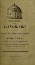 Cover of Description of the panorama of the palace and gardens of Versailles