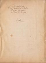 Cover of Descrizione d'un cammino, e stuffa di nuova invenzione