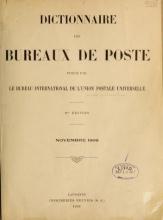 Cover of Dictionnaire des bureaux de poste