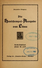 Cover of Die Handstempel-Ausgabe von Libau