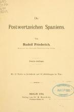 Cover of Die postwertzeichen Spaniens und seiner kolonien
